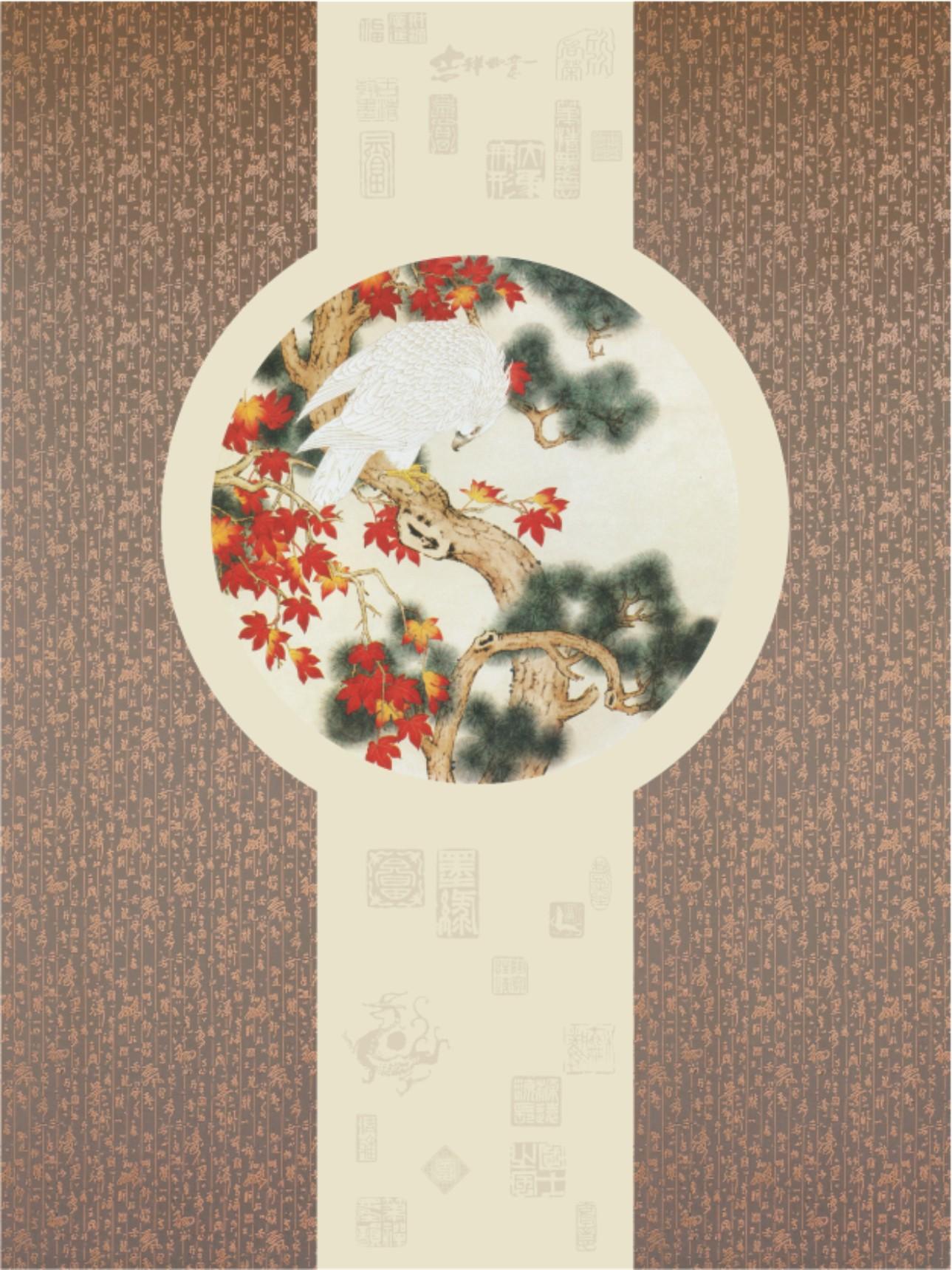 集成吊顶背景配饰系列LA006中式玄关(松)效果图
