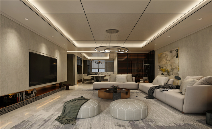 这样设计沙发背景墙,实在太酷了,为客厅增添风采!