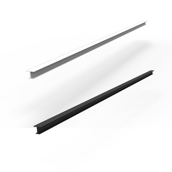集成吊顶其他配件JK-ZST 中缝饰线-9-纤柔米白/氧化哑光黑效果图