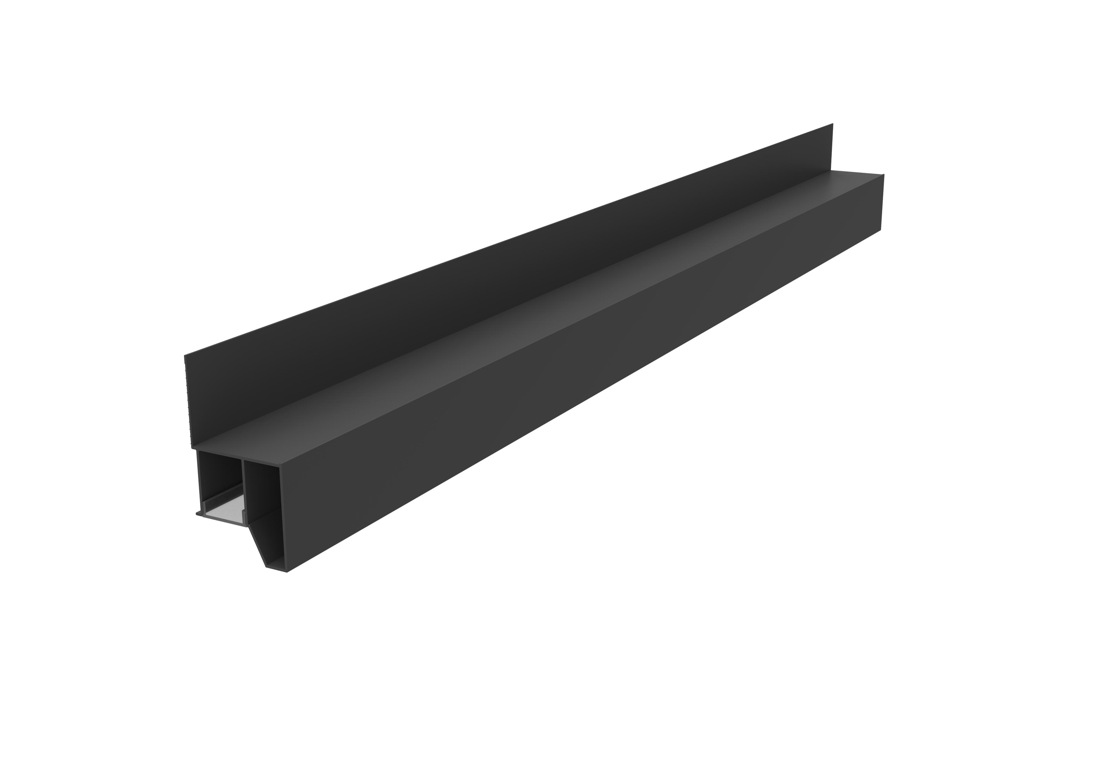 集成吊顶边角线2.8M BDS-BJ-2103发光边角-氧化哑光黑效果图